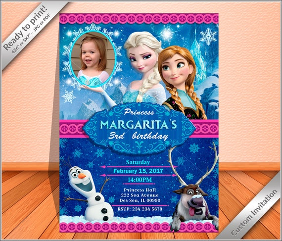 50 Off Personalized Frozen Birthday Invitation Princess