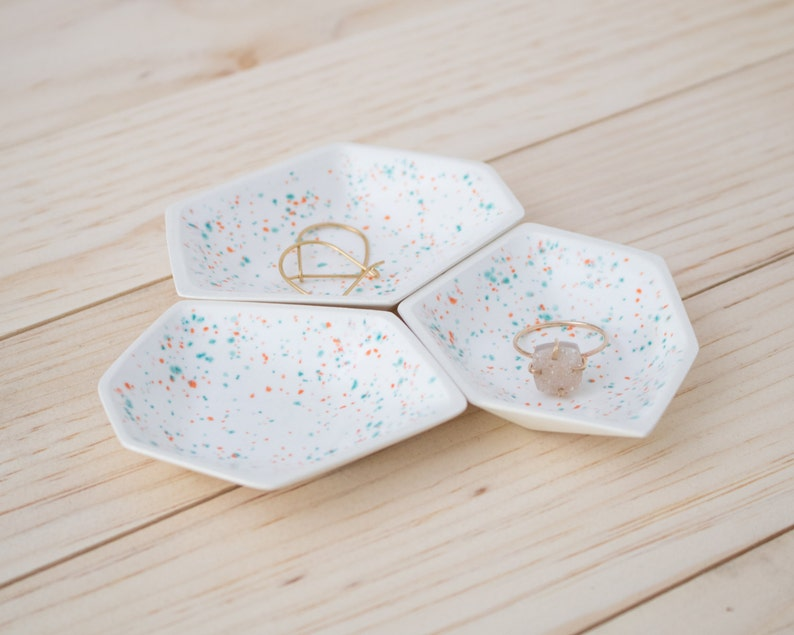 Small Geometric Ring Dish set of 3 in Sprinkles. image 0
