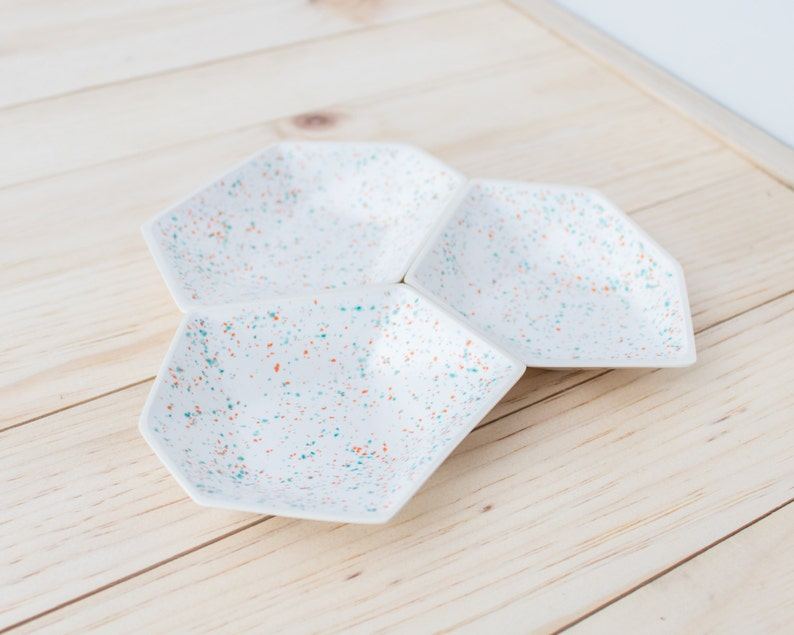 Large Geometric Ring Dish set of 3 in Sprinkles. image 0