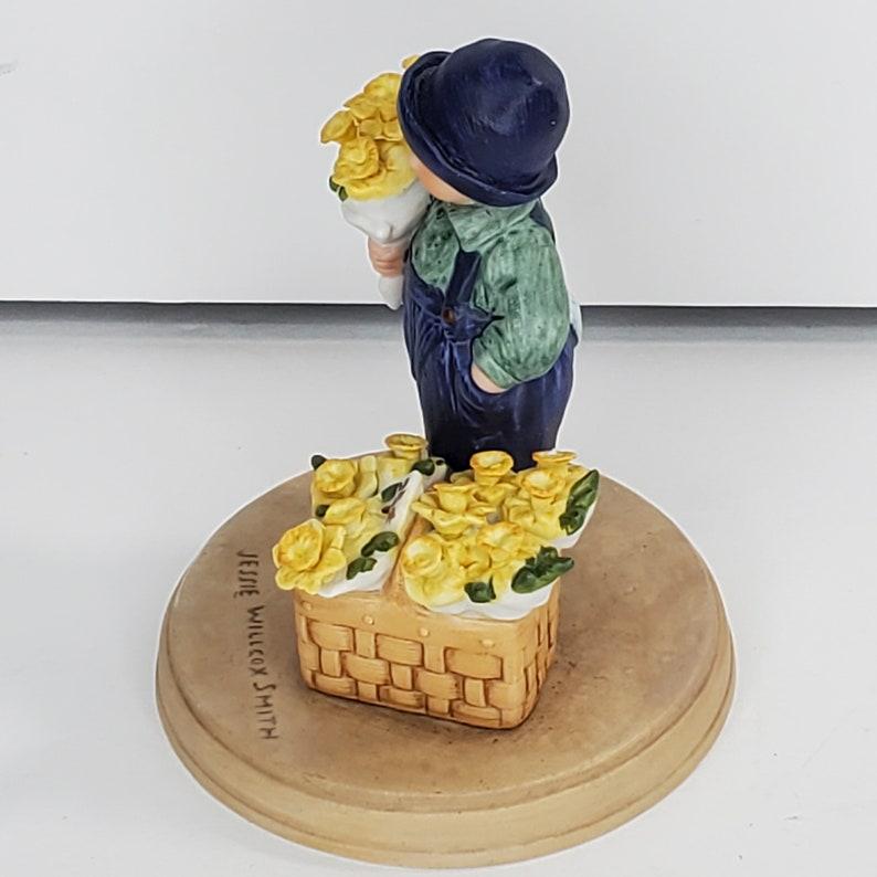1986 Avon Jessie Willcox Smith Figurine Easter Springtime Boy with Daffodils