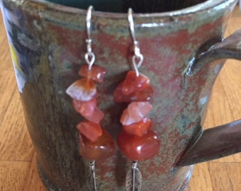 Great Lakes Genuine Agate Earrings