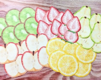 Fruit Flake Stickers from Japan