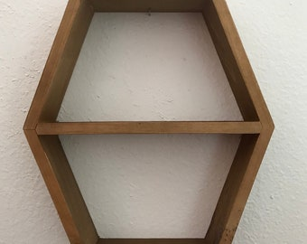 SALE Geometric Rustic Crystal Shelf