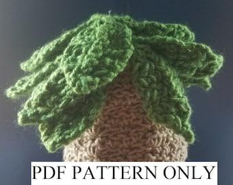 Palm Tree Hat, Crochet Pattern, Crazy Hat Day, Luau, PDF Pattern, Crochet, Hat, Beanie, Adult, Baby