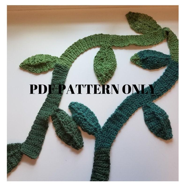 Jungle Vine Scarf Crochet Pattern PDF Download Crochet image 0