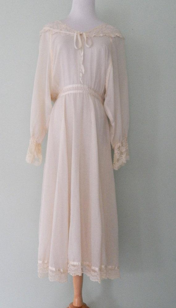 Vintage/1970's/Gunne Sax/Off White/Bridal/Wedding