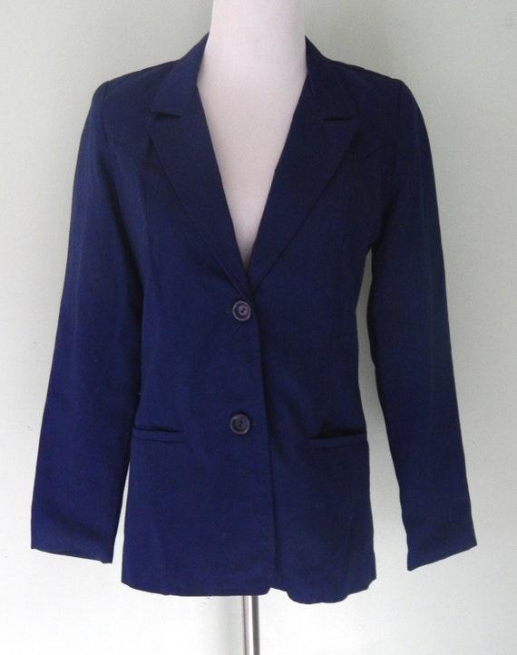 Vintage/1990's/Navy blue/Blazer/Size 10