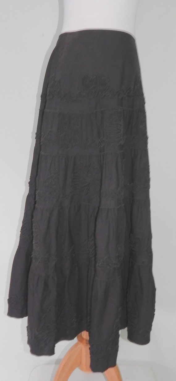 1990's Black Laura Ashley skirt size 10