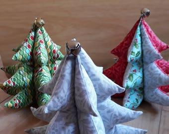 Fabric Christmas Tree, 3D Fabric Christmas Tree, Christmas Tree Card Holder