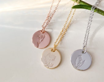 Birth Month Flower Necklace, Miscarriage Gift, Mother's Day Gift