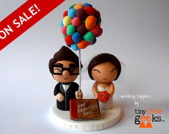Wedding Cake Topper - Up cake topper Carl and Ellie