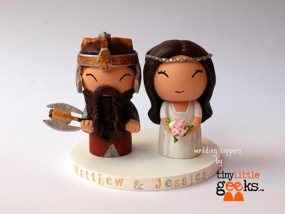 Wedding Cake Topper Lord of the Rings Cake Topper Gimli &   Etsy