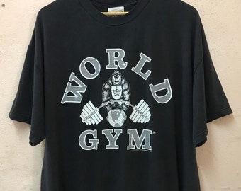 4a3ce22fa Vintage 1996 World Gym Tshirt Big Size XXL / Sport Clothing