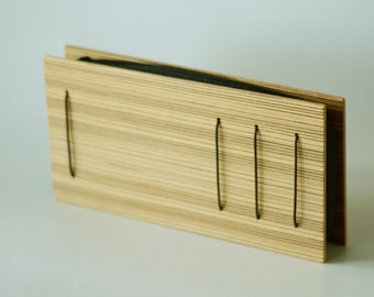 Geometric Wooden Clutch, ideal for fashion lover, gift for her, gift for architect, unconventional, geometric, minimal and earthy, stripes