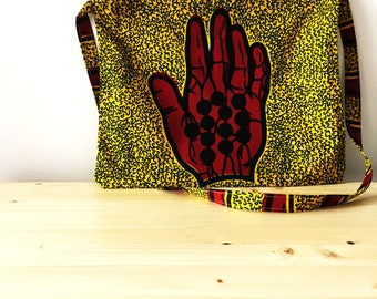 """Cycling bag musette in waxprint cotton ANNIBALE CYCLING  """"Salvo"""""""