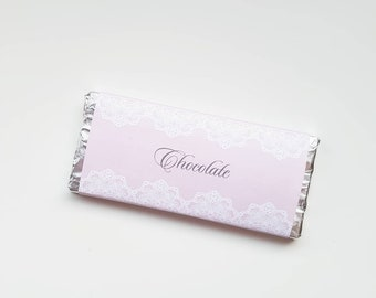 Chocolate - Lovely Lace Collection Printable DIY Chocolate Wrappers for Aldi Choceur Bars Instant Download