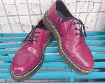 5c57993803 Rare Dr.Martens 3 Eye Purple Patent Leather Shoes, grunge, punk, rock style
