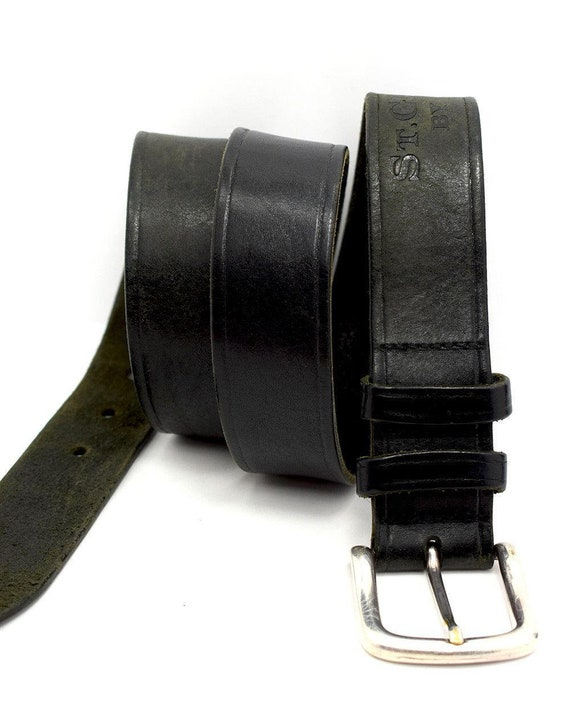 All Leather George Leather Belts Size 34 Black