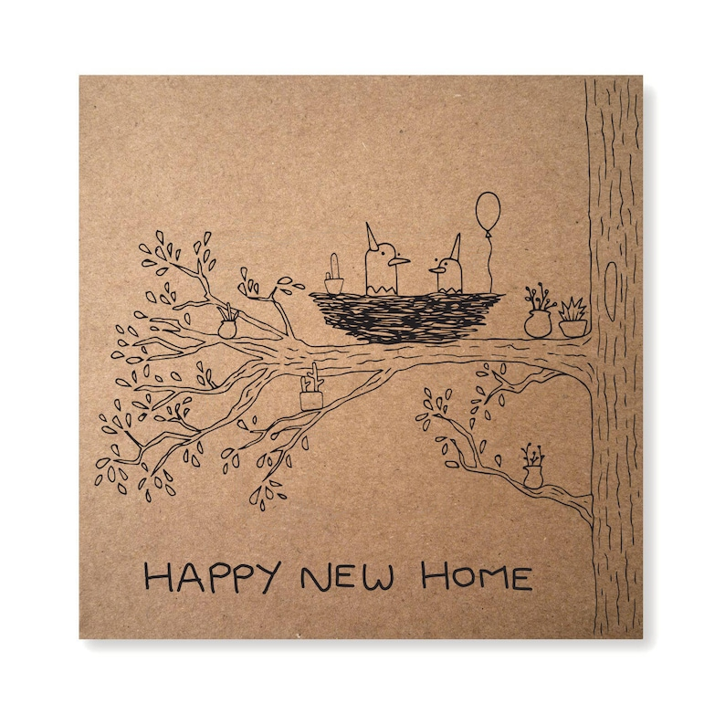 Housewarming Gift Illustrated Greeting Card Moving Card image 0
