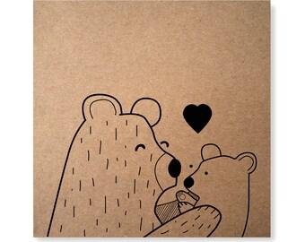 Mama Bear, Mother's Day Card, Bear Card, Bear Pun Card