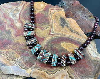 Southwestern Inspired Carrier Bead Necklace
