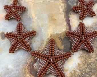 Starfish on Copper Chain