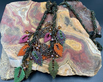 Fall Leaf lariat Necklace