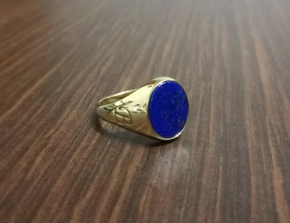 Plata 1ª Ley .925 Bañada En Oro 18K Pendientes Lapis lazuli Natural Nuevos.