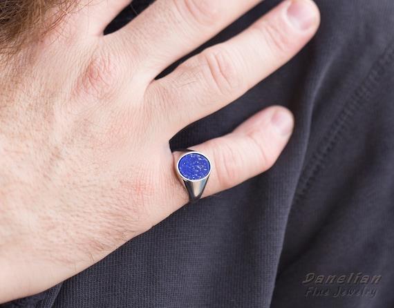 Lapis Lazuli Ring Anniversary Gift Lapis Jewelry Gold Lapis Ring Mother Gift Blue Ring Something Blue Gemstone Ring Solitaire Ring