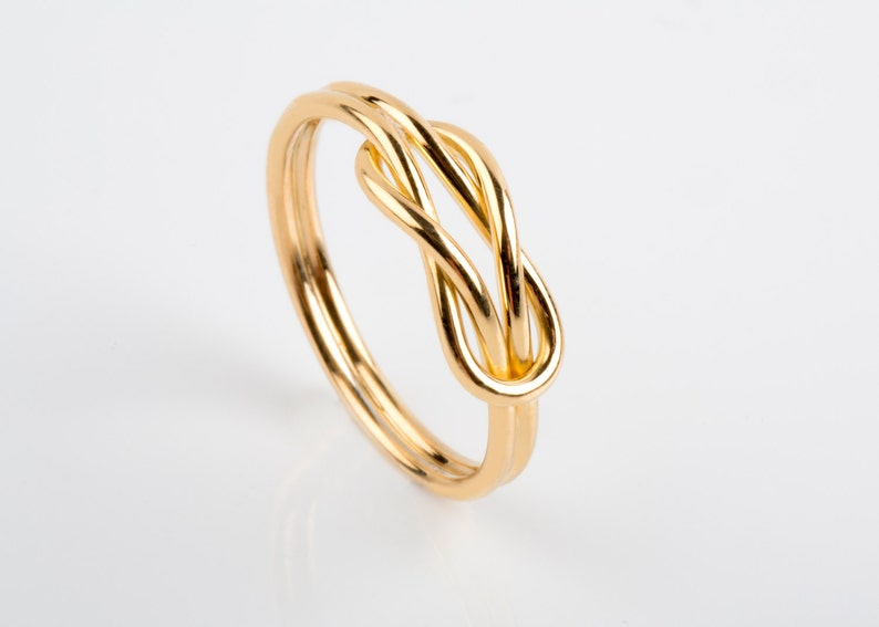 Infinity Valentine Ring Gold Wire Knot Ring BDSM Jewelry Valentine Ring Gift Solid Gold Knot Ring BDSM Ring Alternative Engagement