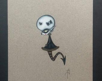Demon mermaid original art (unframed)