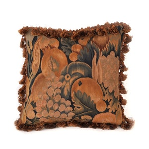 Aubusson Pillow Hand woven French
