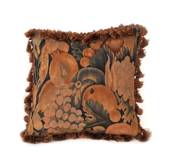 Luxury Throw Pillow Cover Hand Woven French Gobelins Etsy