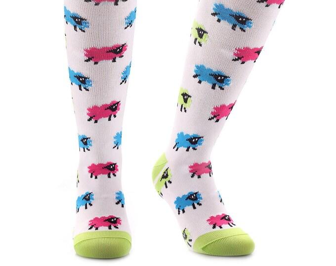 Samson® Crazy Sheeps Funky Socks Sport Knee High Sport Football Rugby Soccer