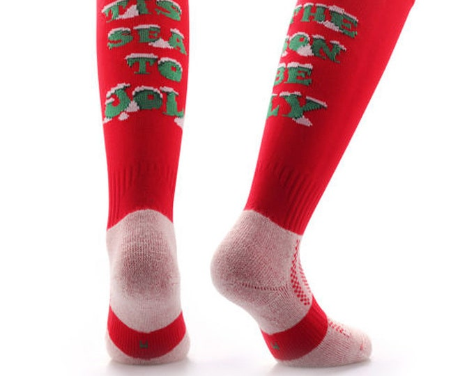 Samson® Be Jolly Christmas Socks Knee High Stockings Festive Seasonal Winter Thermal Cosy Warm