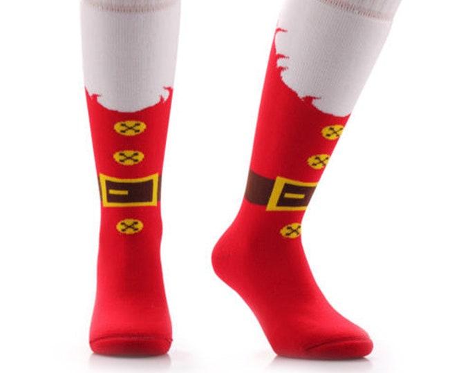 Samson® Thermal Santa Christmas Socks Thick Knee High Ski Snow Stockings Festive Seasonal Winter Cosy Warm