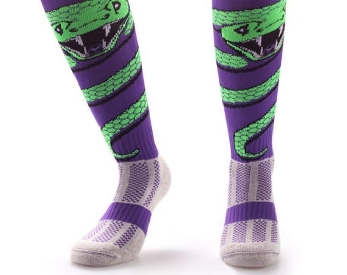Samson® Snake Wrap Funky Socks Sport Knee High Sport Football Rugby Soccer