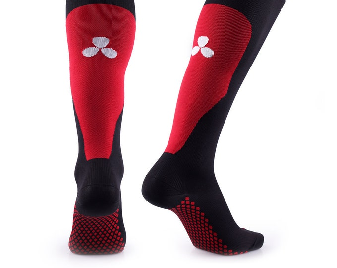 Samson® Red Compression Sport Socks Athletic Running Made in UK