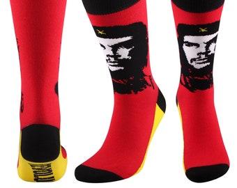 Samson® Revolution Socks Fashion Mid Calf Novelty Dress Funny Cotton Che Guevara