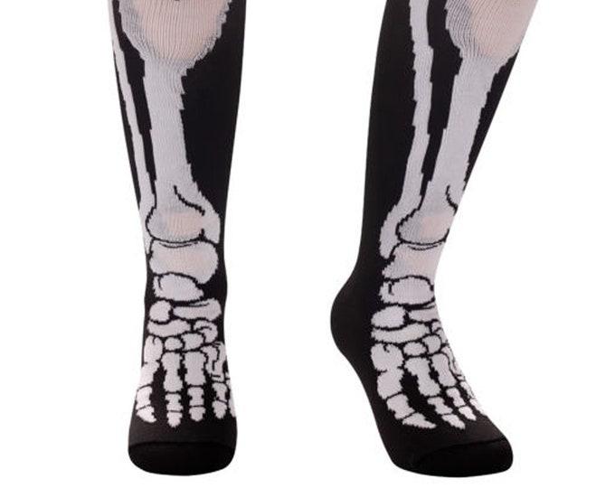 Samson® Skeleton Leg Halloween Stockings Funky Socks Sport Knee High Sport Football Rugby Soccer