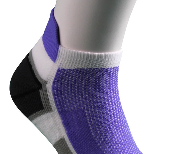 Samson® Running Purple Ankle Socks Sport Walking Athletic