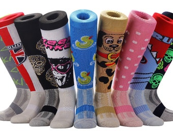 Samson® Funky Novelty Socks Knee High Sports Running Fitness Gym Football Rugby Soccer Hockey