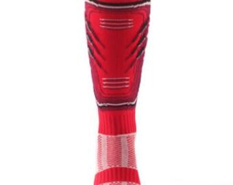 Samson® Shin Pad Funky Socks Sport Knee High Sport Football Rugby Soccer