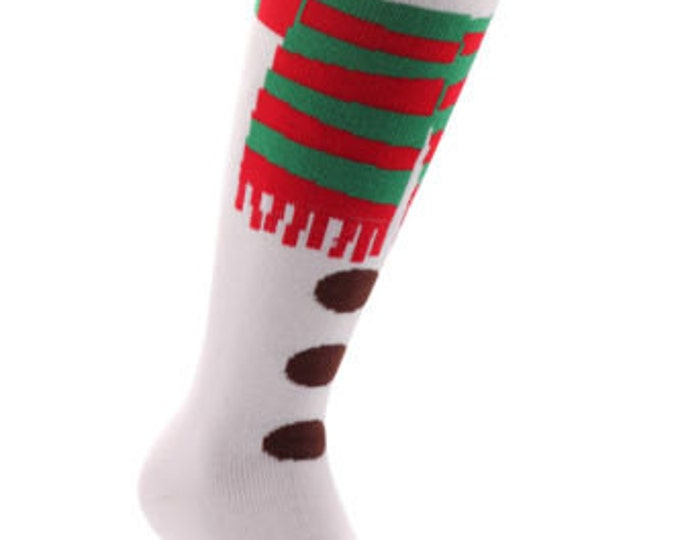 Samson® Thermal Snowman Christmas Socks Thick Knee High Ski Snow Stockings Festive Seasonal Winter Cosy Warm