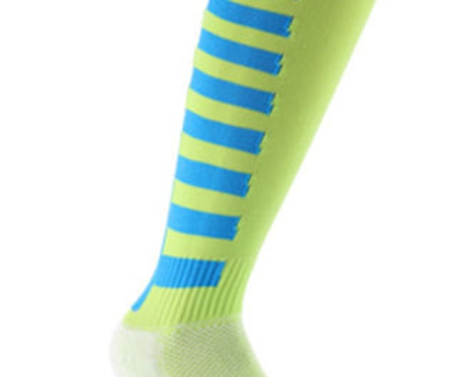 Samson® Sport Stripe Funky Socks Sport Knee High Sport Football Rugby Soccer