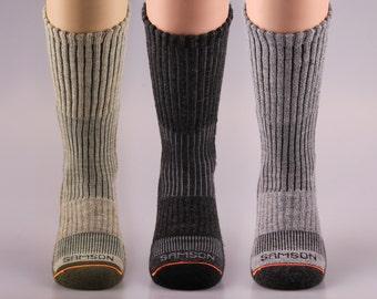Samson® Hiking Wool Socks Mountain Trekking Crew Mid Calf Cosy Thermal