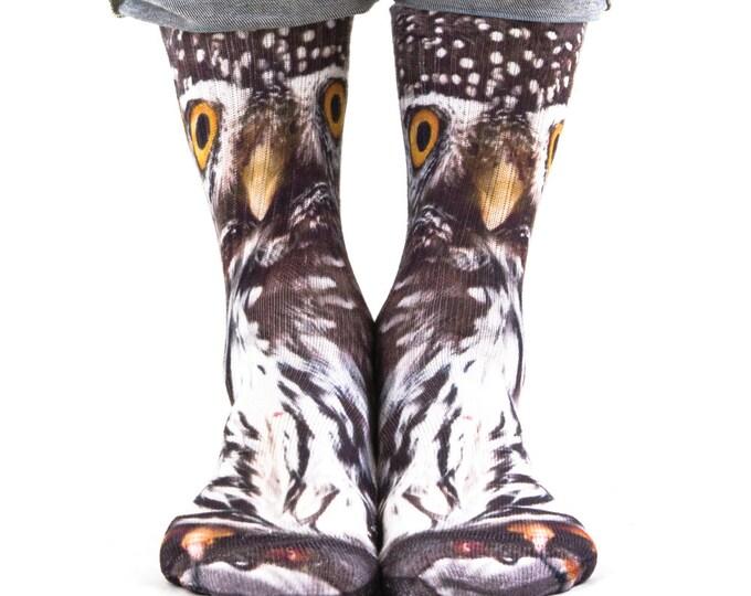 Samson® Owl Hand Printed Socks Sublimation Animal Owls Quality Print UK