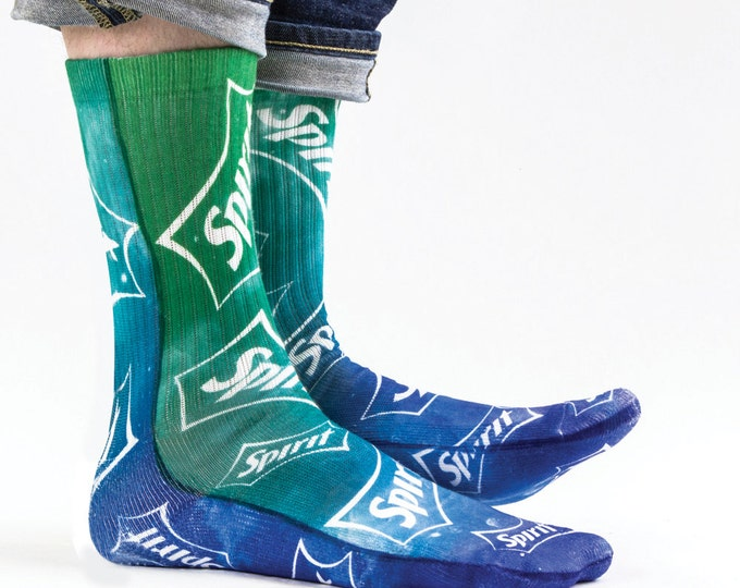 Samson® Spirit Galaxy Space Sublimation Hand Printed Socks Lemon Lime Drink Quality Print UK