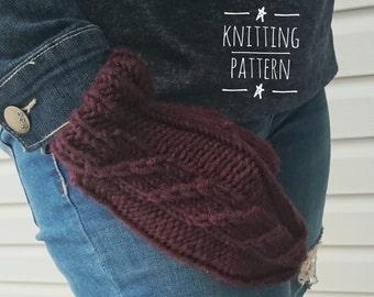 Knitting PATTERN - Unicorn Slayer Mittens, Digital Download, DIY Pattern, PDF Pattern