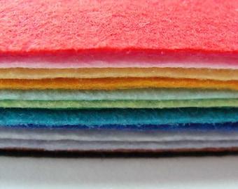 20 Plaques Feutrine 30x20cm Feuilles 1mm environ mix couleurs Feutre DIY loisirs créatifs